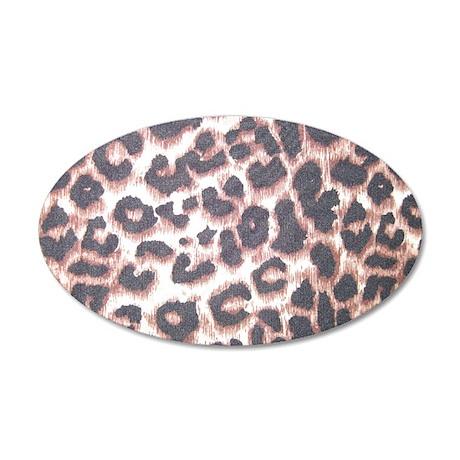 Leopard Print 22x14 Oval Wall Peel