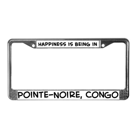 Happiness is Pointe-Noire License Plate Frame