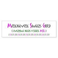 MSG Rectangular Bumper Bumper Sticker