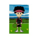 Cute Tennis Boy on Court Magnet (10 Pk)