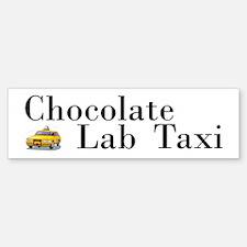 Chocolate Lab Taxi Bumper Bumper Bumper Sticker