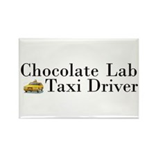 Chocolate Lab Taxi Rectangle Magnet