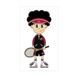 Cute Tennis Boy Sticker (10 Pk)