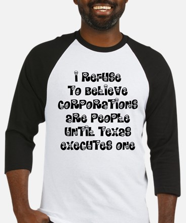 Corporations Are People Baseball Jersey