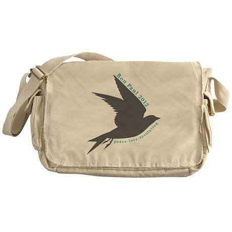 Peace. Love. Revolution. Ron Messenger Bag