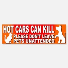Hot Cars KILL Pets! - Bumper Bumper Bumper Sticker