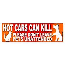 Hot Cars KILL Pets! - Bumper Car Sticker