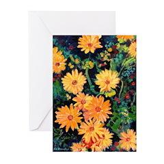Golden Chrysanthemums Greeting Cards (Pk of 10)