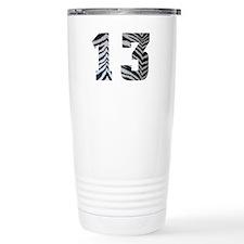 LUCKY NUMBER 13 ZEBRA Travel Mug