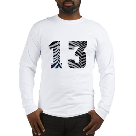 LUCKY NUMBER 13 ZEBRA Long Sleeve T-Shirt