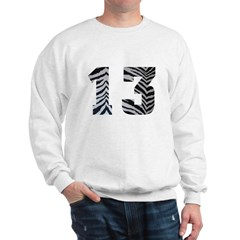 LUCKY NUMBER 13 ZEBRA Sweatshirt