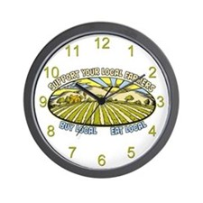 Support Your Local Farmers Wall Clock