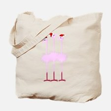 Three Christmas Flamingos Tote Bag