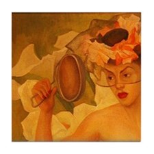 Part 1 of 2 Veiled Lady Cala Art Tile Coaster