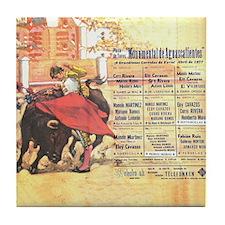 Bullfight Corrida Art Tile Coaster