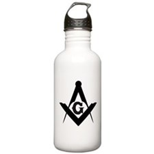 Outline Square and Compass Water Bottle