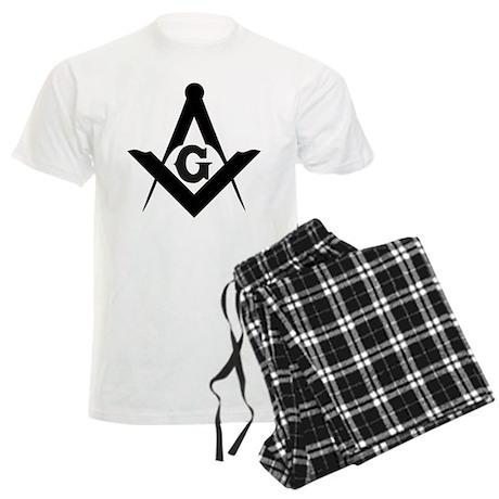 Outline Square and Compass Men's Light Pajamas
