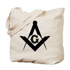 Outline Square and Compass Tote Bag