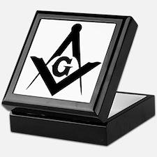 Outline Square and Compass Keepsake Box