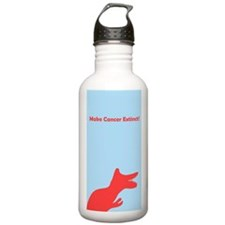 Make Cancer Extinct Dino Stainless Water Bottle 1L