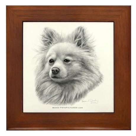 Pomeranian Framed Tile