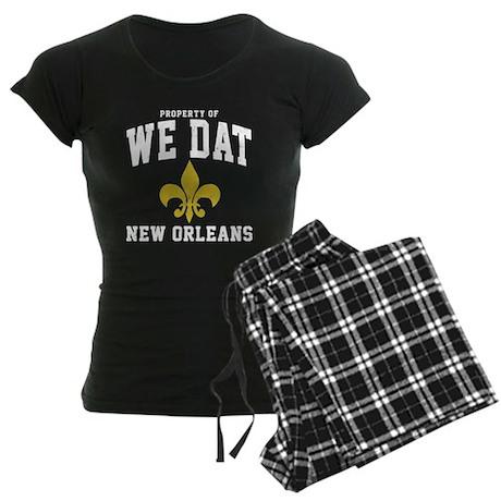 We Dat Property Women's Dark Pajamas