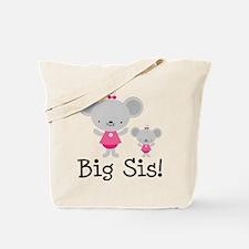 Big Sister Pink Mice Tote Bag