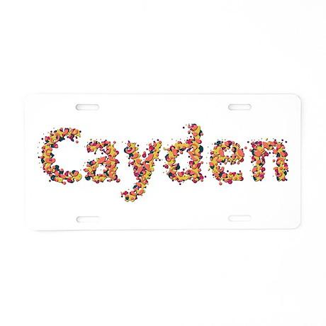 Cayden Fiesta Aluminum License Plate