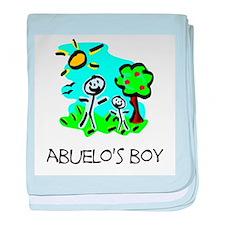 Abuelo's Boy Stick Figure baby blanket