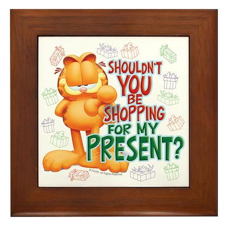 Shop For My Present? Framed Tile