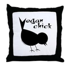 Vegan Chick Throw Pillow