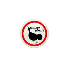Vegan Chick Mini Button (100 pack)