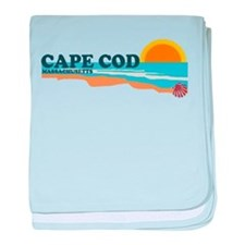 Cape May MA - Beach Design baby blanket