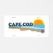 Cape May MA - Beach Design Aluminum License Plate