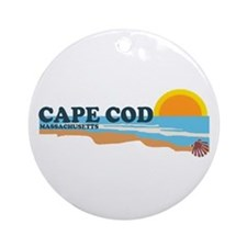 Cape May MA - Beach Design Ornament (Round)