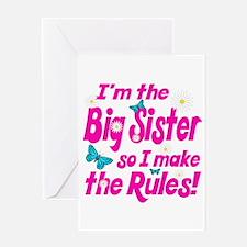 Big sister makes the rules Greeting Card