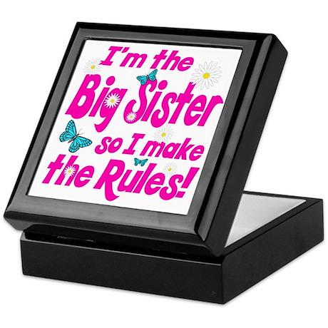 Big sister makes the rules Keepsake Box