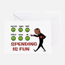 SPENDTHRIFT BARACK Greeting Card