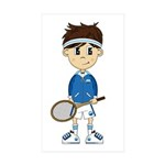 Cute Tennis Boy Sticker (50 Pk)