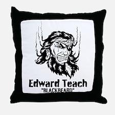 Edward Teach Throw Pillow
