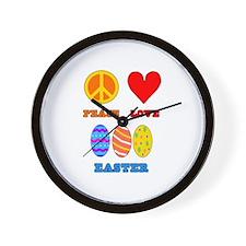 Peace Love Easter Wall Clock