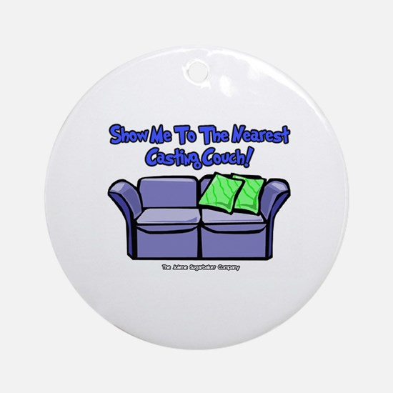 Casting Couch Ornament (Round)