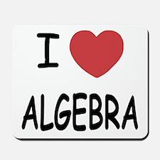 I heart algebra Mousepad