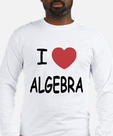 I heart algebra Long Sleeve T-Shirt
