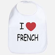 I heart french Bib