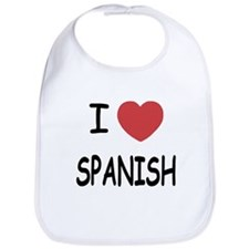 I heart spanish Bib