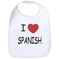 I heart spanish Bib