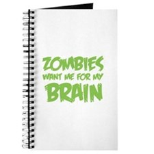 Zombies want me for my brain Journal