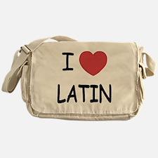 I heart latin Messenger Bag