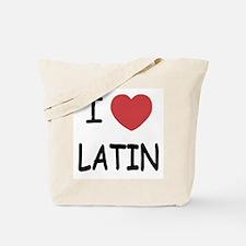 I heart latin Tote Bag